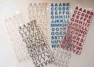 15mm Glitter Paper Script, Rhinestone, Bold Self Adhesive, Stick on Alphabet Letters