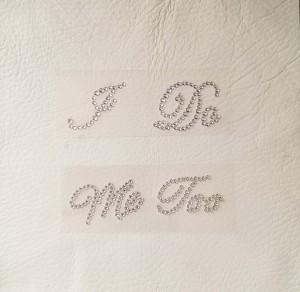 I Do or Me Too Crystal Clear Diamante Rhinestone Wedding Shoe Stickers