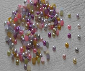 200 x 4mm Flat back Half Round Pearls in Various Colours