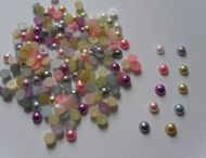 150 x 5mm Flat Back Pearls in Various Colours