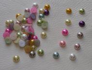 50 x 9mm Flat Back Half Round Pearls
